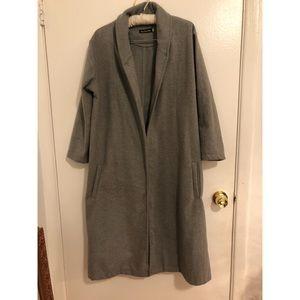 Gray long coat